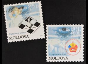Moldawien Moldova 1999 Michel Nr. 340-41 Schach Weltmeisterschaft der Damen