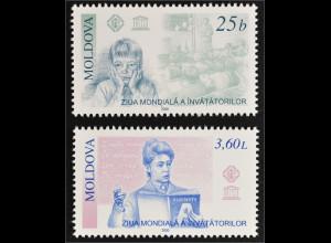 Moldawien 2000 Michel Nr. 373-74 Internationaler Tag des Lehrers