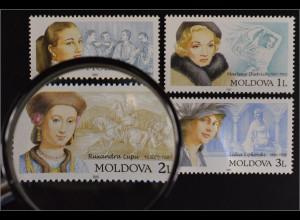 Moldawien Moldova 2001 Michel Nr. 384-87 Persönlichkeiten Marlene Dietrich