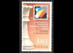 Moldawien Moldova 2005 Michel Nr. 513 Schach Europameisterschaft der Frauen