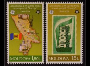 Moldawien Moldova 2005 Michel Nr. 517-18 50 Jahre Europamarken Europa
