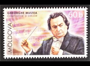 Moldawien Moldova 2006 MiNr. 548 55. Geb. Gheorghe Mustea Komponist Dirigent