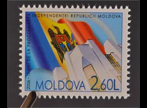 Moldawien Moldova 2006 Michel Nr. 564 15 Jahre Unabhängigkeit