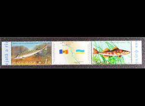 Moldawien Moldova 2007 Michel Nr. 595-96 Schutz der Fauna Fische
