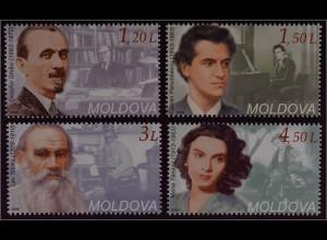 Moldawien Moldova 2008 Michel Nr. 619-22 Persönlichkeiten Maria Tanase Tolstoj