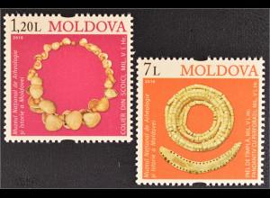 Moldawien 2010 Michel Nr. 691-92 Archäologische Funde Muschelkette