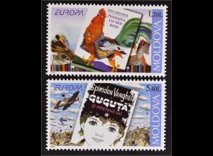 Moldawien Moldova 2010 Michel Nr. 703-04 Europa Kinderbücher Beutel mit 2 Münzen