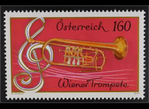 Österreich 2016 Nr. 3247 Trompete Musikinstrumente Philharmoniker Notenschlüssel