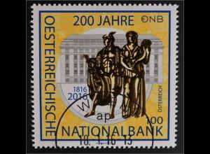 Österreich 2016 Michel Nr. 3243 200 Jahre Österreichische Nationalbank ONB