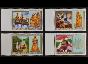 Burundi 1986 Michel Nr. I-IV 10 Jahre 2. Republik nicht verausgabte Serie