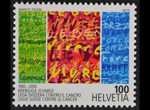 Schweiz Switzerland 2010 Michel Nr. 2144 100 Jahre Krebsliga Schweiz