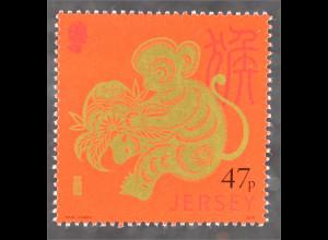 Jersey 2016 Nr. 1994 Chinesisches Horoskop Jahr des Affen Year of the Monkey