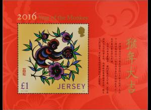 Jersey 2016 Block 136 Chinesisches Horoskop Jahr des AffenYear of the Monkey
