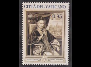 Vatikan Cittá del Vaticano 2015 Michel Nr. 1853 400. Geburtstag Papst Innozenz