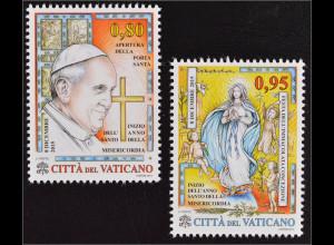 Vatikan Cittá del Vaticano 2015 Michel Nr. 1857-58 Heiliges Jahr Barmherzigkeit