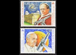 Vatikan Cittá del Vaticano 2015 MiNr. 1850-51 80 Jahre Sternwarte Gandolfo