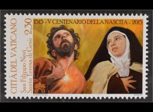 Vatikan Cittá del Vaticano 2015 Michel Nr. 1852 500. Geburtstag Theresia Philipp