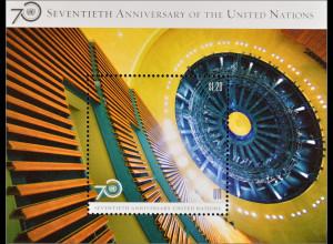 Vereinte Nationen UNO New York 2015 Block 43 70 Jahre Vereinte Nationen