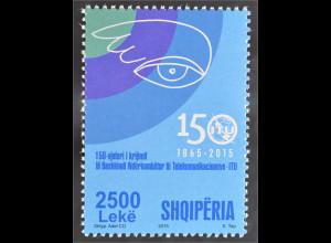 Albanien 2015 Nr. 3516150 Jahre ITU Internationale Telekommunikations Union
