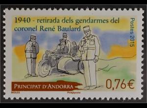 Andorra französisch 2015 Michel Nr. 787 75 Jahre Abzug der Polizeitruppen