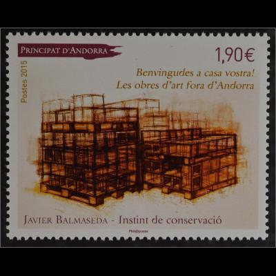 Andorra französisch 2015 Michel Nr. 784 Gemälde von Javier Balmaseda Kunst