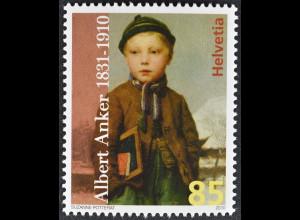 Schweiz Switzerland 2010 Michel Nr. 2155 **, 100. Todestag von Albrecht Anker