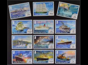 Tristan da Cunha 2015 Nr. 1220-21 Postschiffe Schiffsverkehr Freimarkenserie