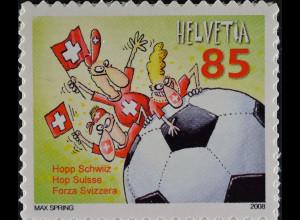 Schweiz 2008 Michel Nr. 2056 Fußball EM Cartoon Hopp Schwiiz Max Spring