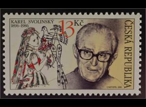 Tschechische Republik 2016 Michel Nr. 871 Karel Svolinsky Berühmte Person