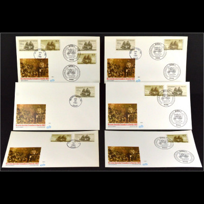 Bundesrepublik 1180 USA 1628 Concord 6 Briefe Parallelausgabe Joint Issue 1983