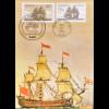Bund 1180 USA 1628 Concord Maximumkarte Parallelausgabe Joint Issue 1983