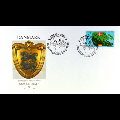 Dänemark 829 FDC Bonn Kopenhagener Erklärungen Parallelausgabe Joint Issue 1985