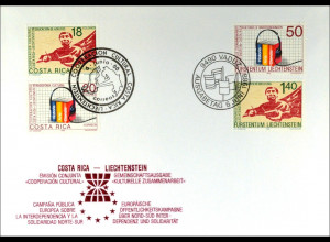 Liechtenstein 945-46 Costa Rica 1347-48 Brief Parallelausgabe Joint Issue 1988