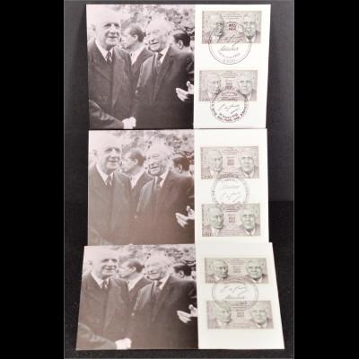 Frankreich 2636 Bund 1351 3 Maxikarten MK Gemeinschatsausgabe Joint Issue 1988