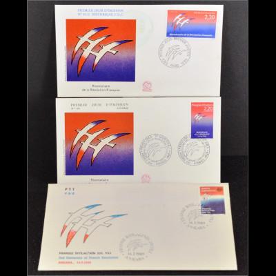 Frankreich 2696 fr. Andorra 397 Türkei 2861 Gemeinschatsausgabe Joint Issue 1989