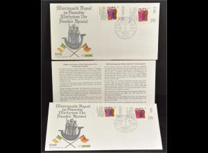 Deutschland 1424 Irland 683 2 Kombi FDC Gemeinschatsausgabe Joint Issue 1989
