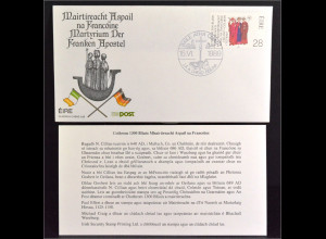 Irland 683 FDC Gemeinschatsausgabe Joint Issue 1989 Franken Apostel Brief