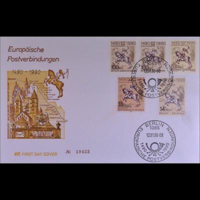 BRD 1445 Berlin DDR Österreich Belgien FDC Gemeinschatsausgabe Joint Issue 1990
