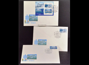 Sowjetunion 6095-96 Bl. 213 Antarktis FDC Gemeinschatsausgabe Joint Issue 1990