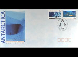 Australien Nr. 1215-16 Antarktis FDC Gemeinschatsausgabe Joint Issue 1990