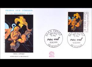 Frankreich Michel Nr. 2862 Max Ernst FDC Gemeinschatsausgabe Joint Issue 1991