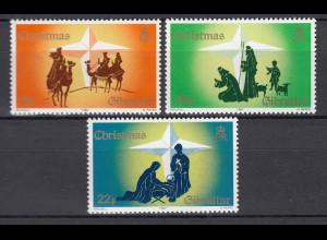 Gibraltar 1987 Michel Nr. 541-43 Weihnachten Heilige Familie Hiten Schafe