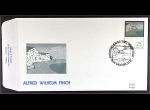 Belgien 2469 FDC Alfred William Finch Gemeinschatsausgabe Joint Issue 1991