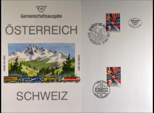 Österreich 2065 Schweiz 1477 Schützt Alpen Gemeinschatsausgabe Joint Issue 1992