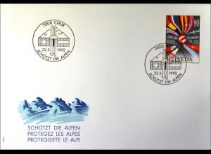 Schweiz Michel Nr. 1477 FDC Gemeinschatsausgabe Joint Issue 1992