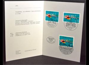 Schweiz Kombi Faltblatt MiNr. 1501 Euregio Gemeinschaftsaugabe Joint Issue 1993