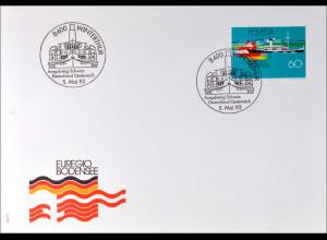 Schweiz MiNr. 1501 FDC Euregio Bodensee Gemeinschaftsaugabe Joint Issue 1993