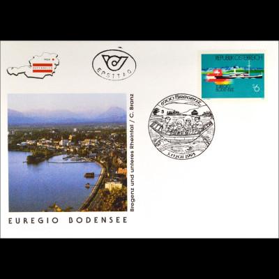 Österreich MiNr. 2096 FDC Euregio Bodensee Gemeinschaftsaugabe Joint Issue 1993