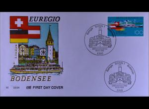 Bund MiNr. 1678 FDC Euregio Bodensee Gemeinschaftsaugabe Joint Issue 1993