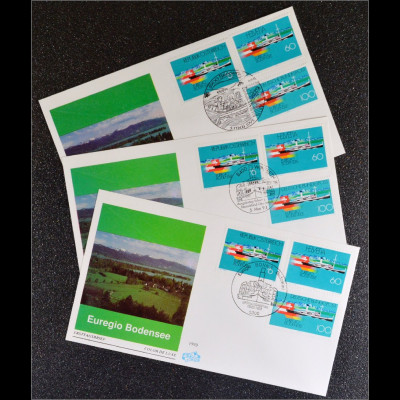 3 Kombi FDC Euregio Bodensee Bund 1678 Gemeinschaftsaugabe Joint Issue 1993
